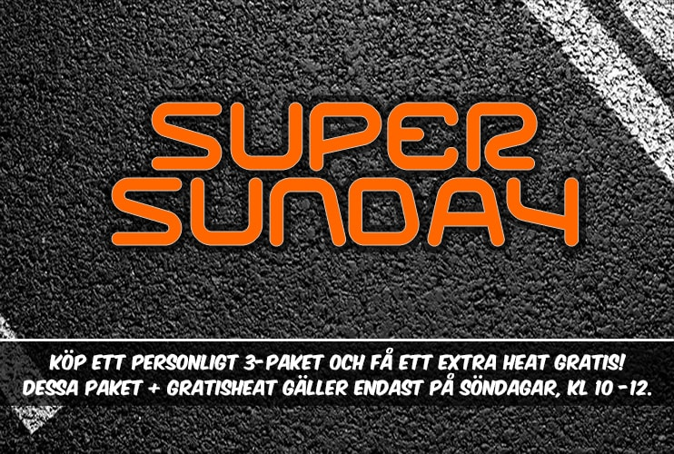 Event Super Sunday Gokart Stockholm Globen