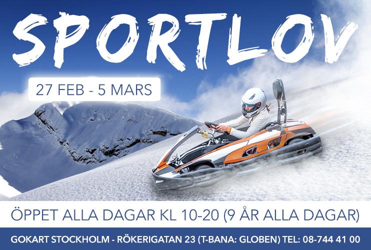 Gokart Stockholm Sportlov 2017