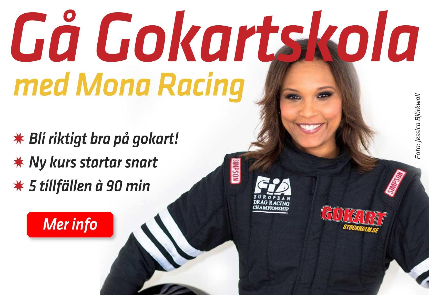 Gå Gokartskola med Mona Racing